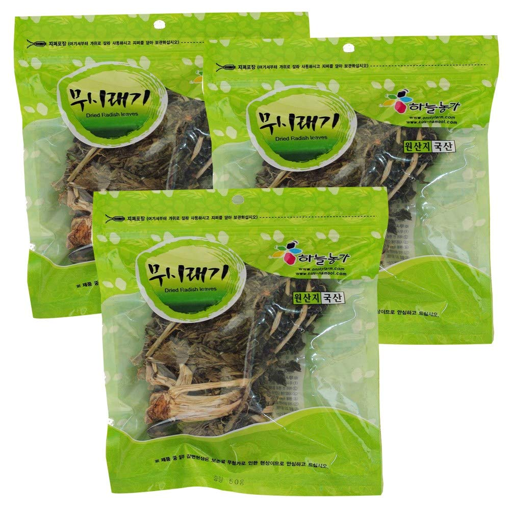 Dried Radish Leaves 50g(pack of 3) | Product of Korea 무시래기