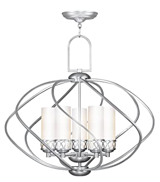 livex lighting 4725 91 chandelier with hand blown satin white glass Kichler Ceiling Fans livex lighting 4725 91 chandelier with hand blown satin white glass shades brushed nickel