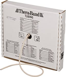 TheraBand Resistance Tubes, Professional Latex Elastic Tubing, Upper & Lower Body, Core Exercise, Physical Therapy, Lower Pilates, at-Home Workouts, Rehab