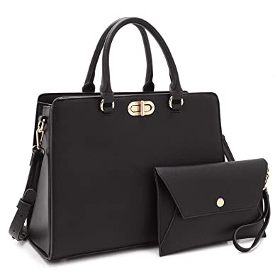 online shop uk store pretty nice Dasein Women Fashion Handbags Tote Purses Shoulder Bags Top Handle Satchel  Purse Set 2pcs