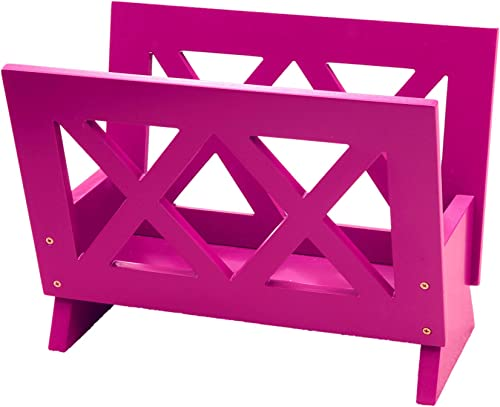 Frenchi Home Furnishing Contemporary Magazine Rack, purple