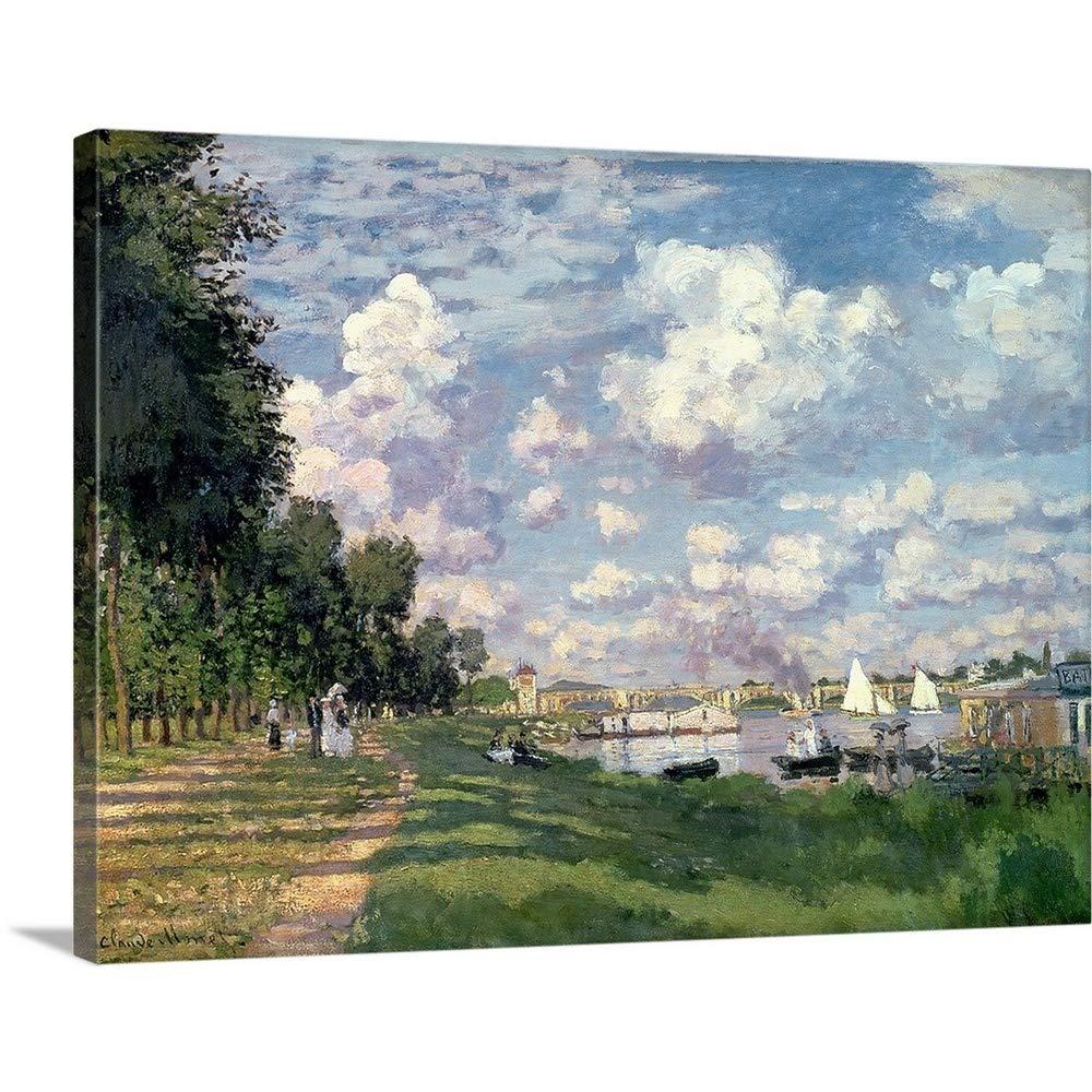 クロードモネ「The Premium thick-wrapキャンバス壁アートプリントMarina At Argenteuil , 1872 40