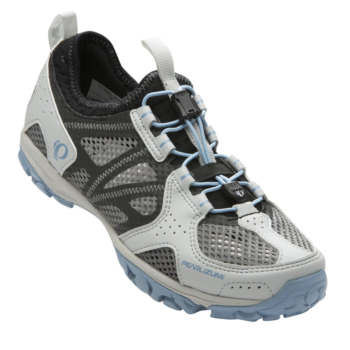 Pearl Izumi Women's W X-ALP Drift IV Cycling Shoe, Black/Dusk Blue, 40 EU/8.3 B US