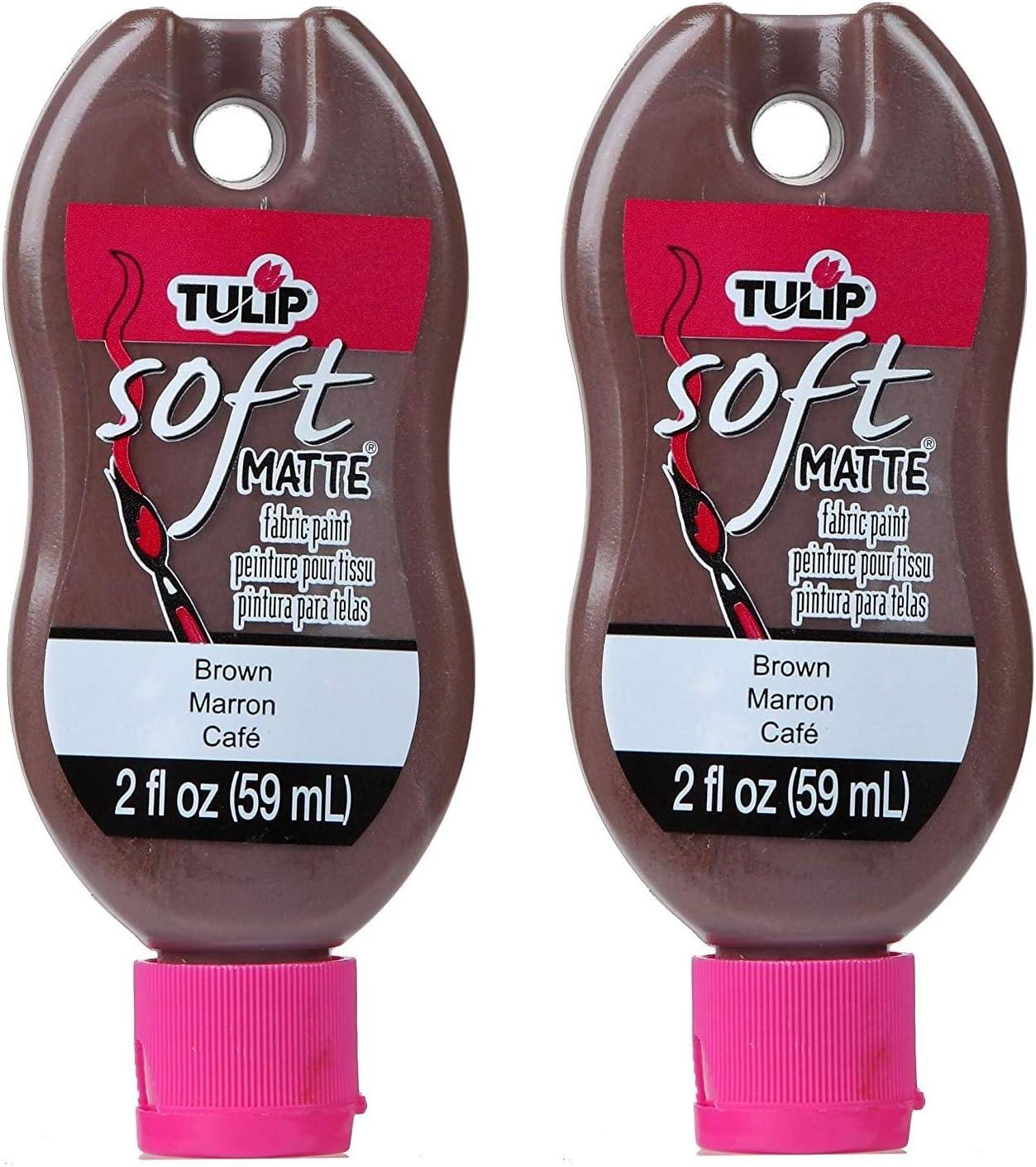Tulip 30981 Soft Fabric Paint, 2-Ounce, Matte Brown Tw P ck