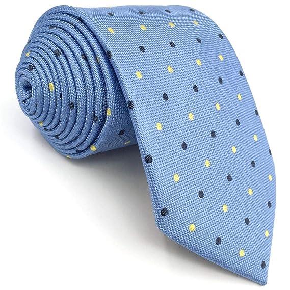 S&W SHLAX&WING Nuevo Puntos Azul Corbatas Para Hombre Classic ...