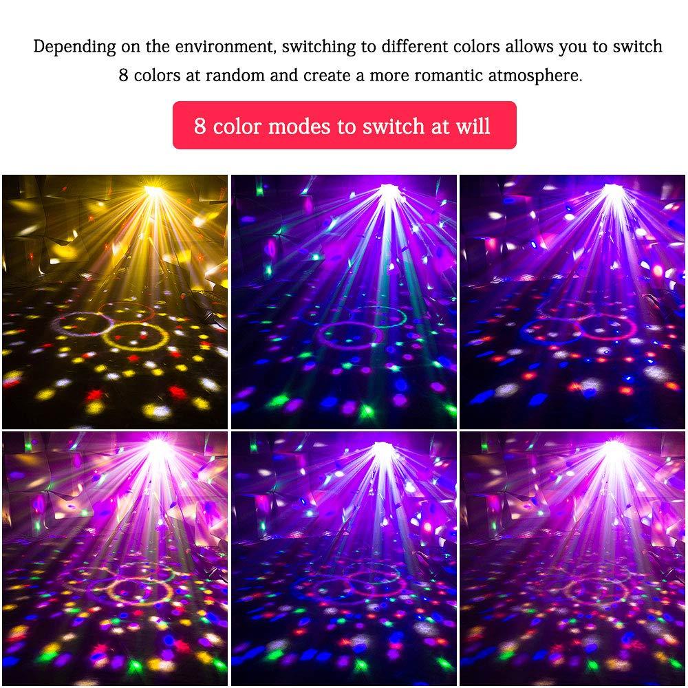 Uking Bluetooth Wireless Disco Ball etapa luz altavoz,Sound Auto mando a distancia USB 10 W led RGB cristal mágica luz nocturna rotatoria para decoración de ...