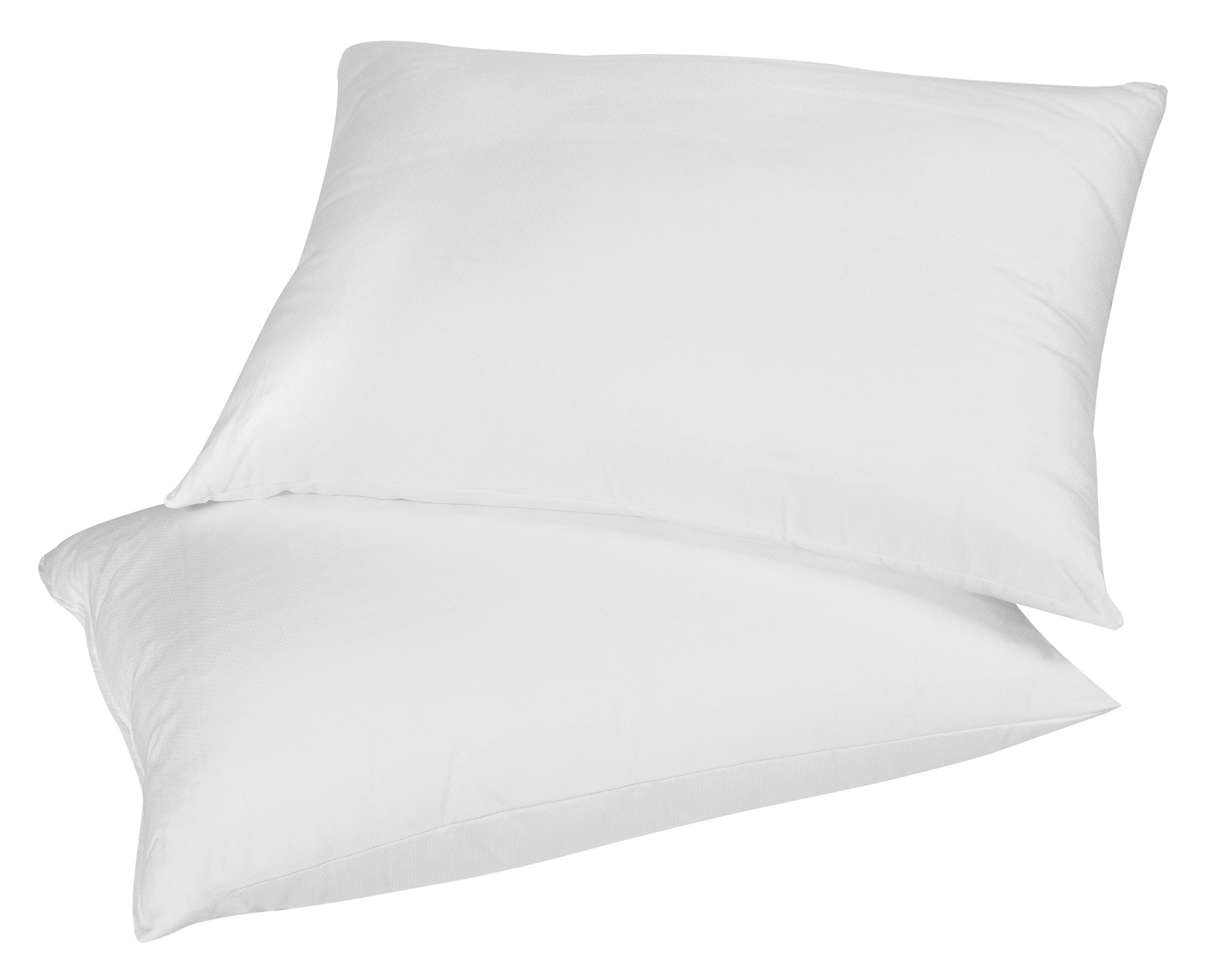 Premium 100% White Goose Down Pillow. Queen Size [Soft] (Set of 2) by Continental Bedding