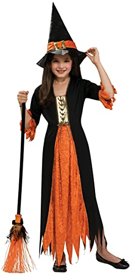 Halloween - Disfraz de Bruja gótica para niña, Talla S infantil 3 ...