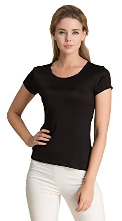613e68e0 CLC Women's Mulberry Silk Camisole T-Shirt Tank Tops at Amazon ...