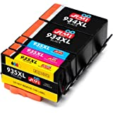 JIMIGO 934XL 935XL Cartucce d'inchiostro Sostituzione per HP 934 935 Compatibile con HP Officejet Pro 6230 6830 6820 6812 6835 6815 (2 Nero, 1 Ciano, 1 Magenta, 1 Giallo)