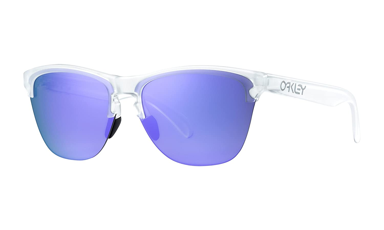 f31c85bdb Amazon.com : Oakley Frogskins Lite Sunglasses Matte Clear with Violet  Iridium Lens : Sports & Outdoors