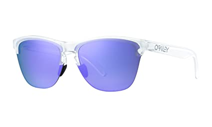 df92608498b2 Image Unavailable. Image not available for. Color: Oakley Frogskins Lite  Sunglasses Matte Clear with Violet ...