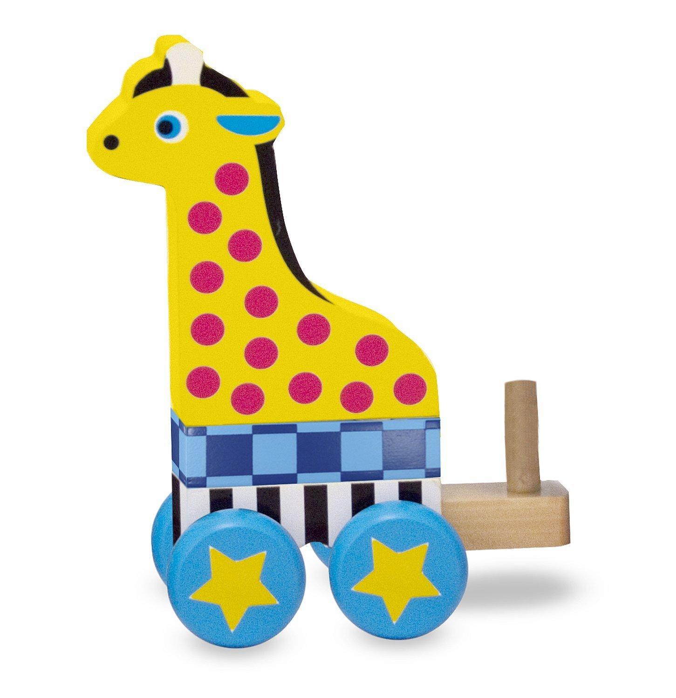Amazon Melissa & Doug Pull Along Zoo Animals Wooden Pull Toy