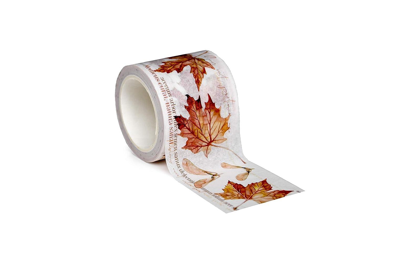 4.5 cm alexandraRenke Wt-AR-He0002 Maple Leaves paper Ahornbl/ätter Washi Tape rotbraund