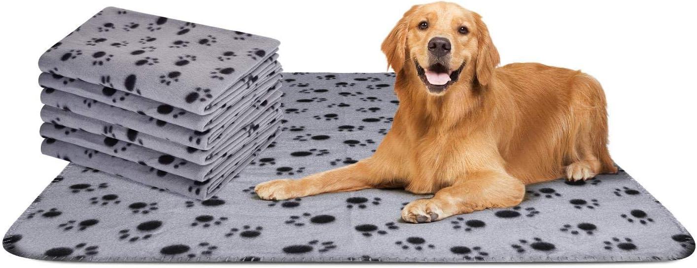 Nobleza – 6 x Manta Suave de Felpa para Perros, Gatos y Otras Mascotas. Lavable. Color Gris, 75 * 75: Amazon.es: Productos para mascotas