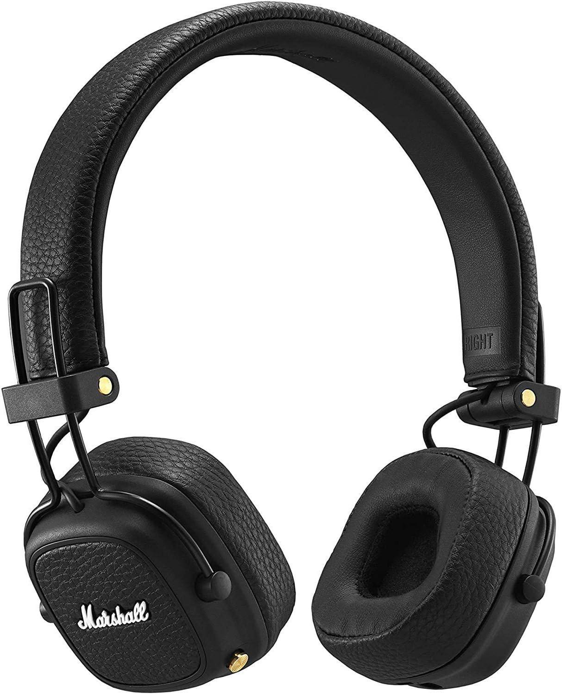 Marshall Major III Voice - Auricular con Bluetooth, Color Negro