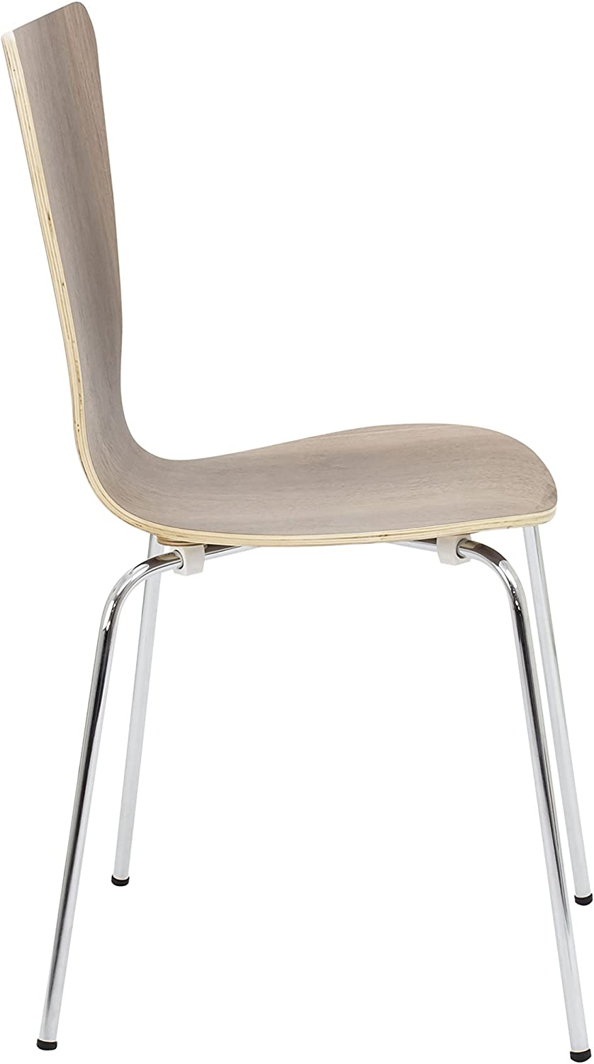 Office Hippo Caf/é Bistro Stacking Chair-Beech 47x54.5x87 cm