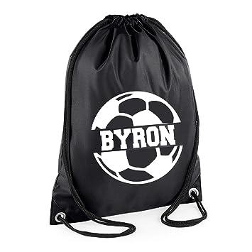 Personalised Boys Drawstring Bag Football Bags PE Games Sports Gym School
