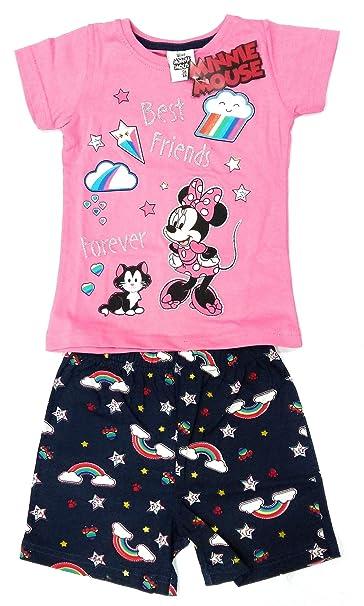 1b2175001 Pijama Minnie Mouse Verano - Conjunto Minnie Mouse Disney Algodón (3 años)