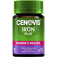 Cenovis Iron Plus - Iron Tablets - Assists Iron Absorption - Supports Energy Levels - Relieves Fatigue, 80 Tablets