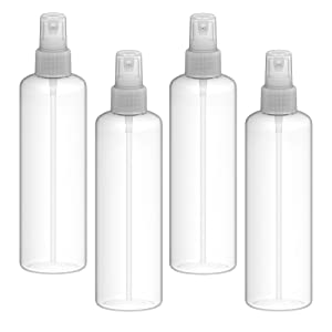 Fortitude Spray 240Ml Bottle – Transparent Small Spritzer Bottles 8 Oz – Premium Food Grade (LDPE) Refillable Bottle – Travel Friendly – Ideal for Cosmetics, Perfume, Essential Oils (2-Pack)