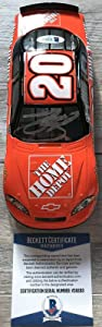 SMOKE Tony Stewart NASCAR Signed HOME DEPOT Winners Circle 1:24 Die-Cast Car BAS - Autographed Diecast Cars