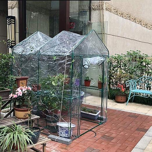 XY&CF-Flower house Invernadero Jardín Mini Plástico Planta de Membrana translúcida Alta Invernadero (127 * 77 * 195 cm): Amazon.es: Hogar