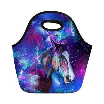 Amazon Com Showudesigns Warmer Lunch Bag Tote Galaxy Horse Women S
