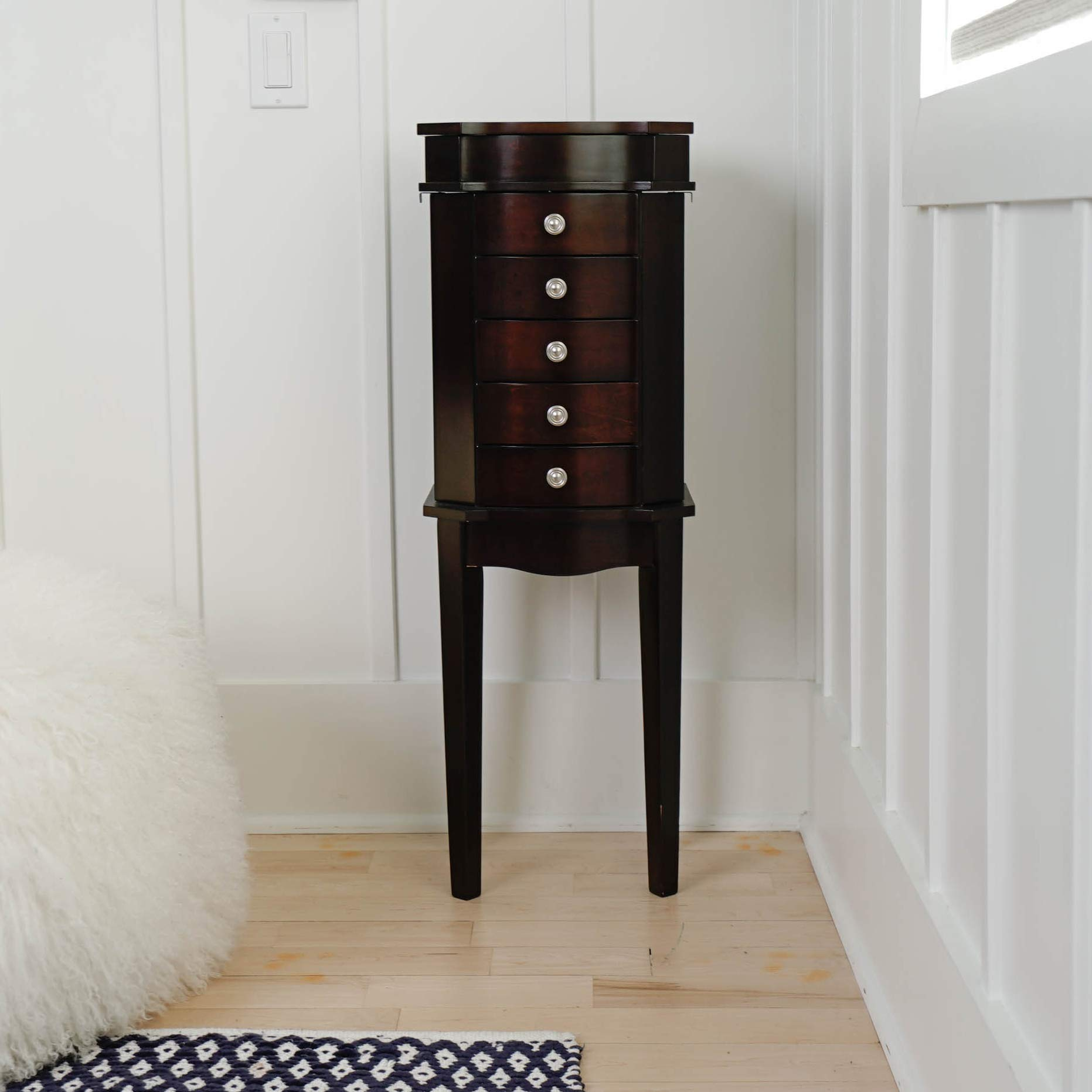 Hives & Honey Meg Espresso Jewelry Armoire by Hives and Honey (Image #3)