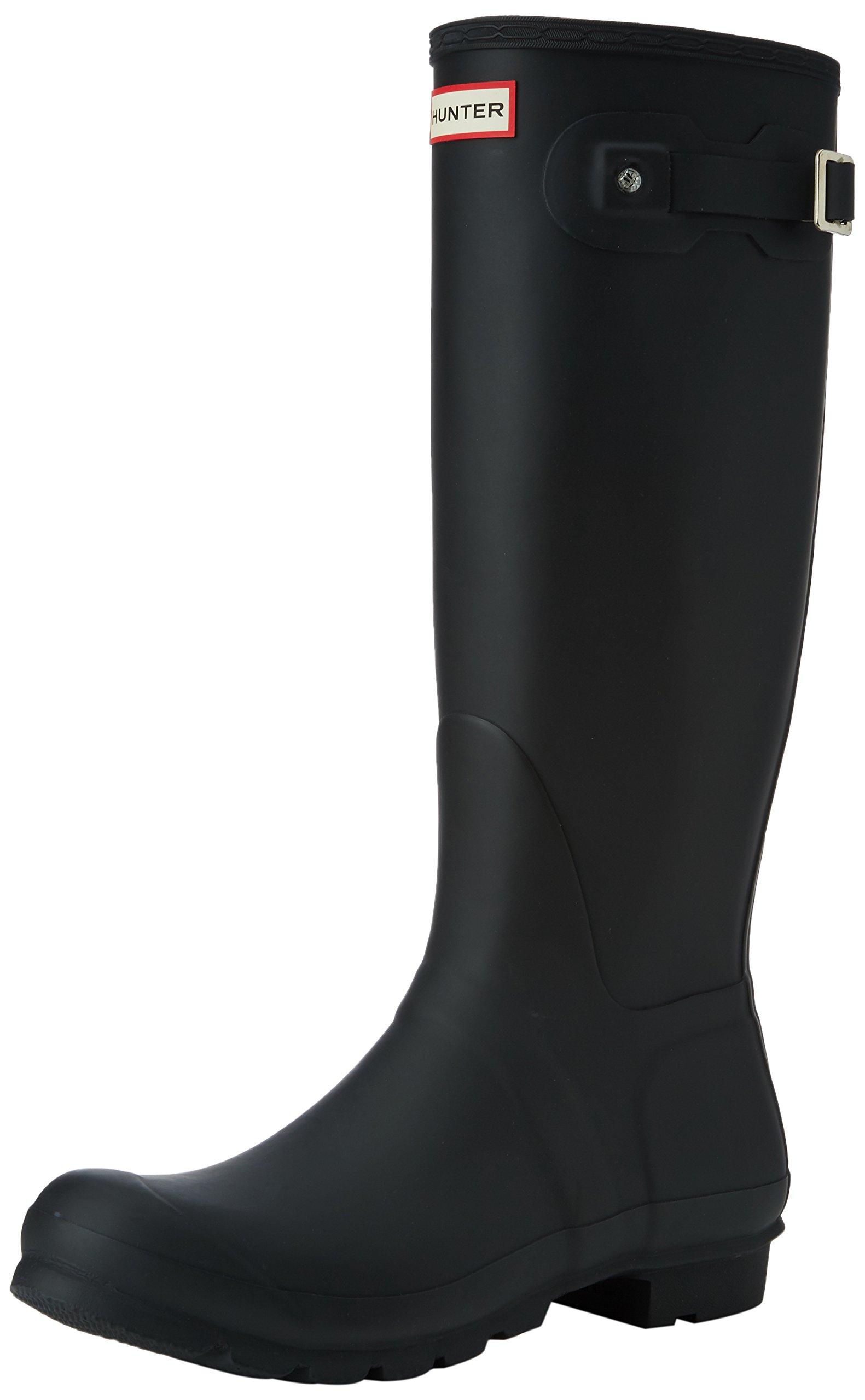 Hunter Women's Original Tall Snow Boot, Black, 8 M US