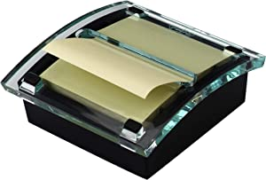 Post-it Pop-up Note Dispenser, Black Base Clear Top, Designed to work with Post-it Pop-up Notes, Classic Design, Fits 3 in. x 3 in. Notes, (DS330-BK)