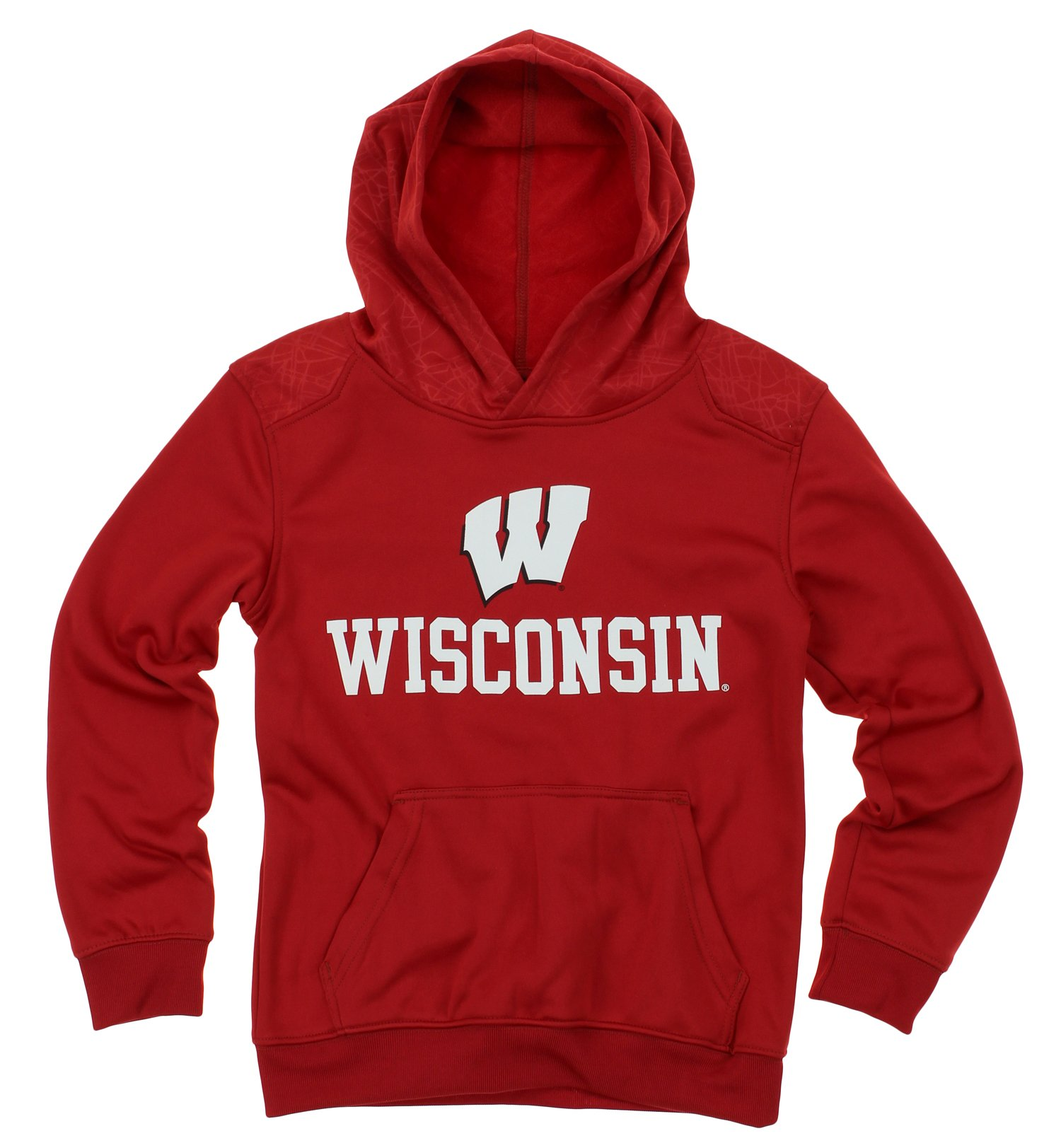 Outerstuff NCAA Big Boys Youth Performance Hoodie (8-18), Wisconsin Badgers