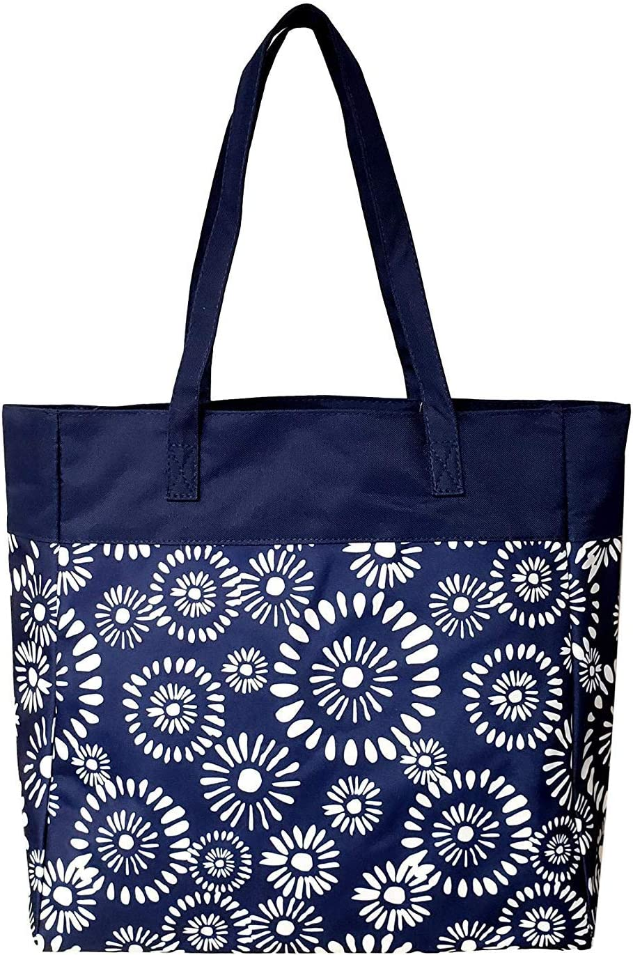High Fashion Print Tote Bag Personalization Available Blank - Riley Navy