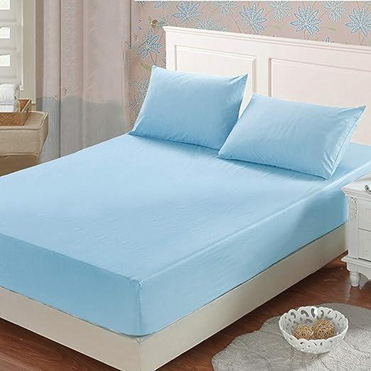 Sonia Moer Premium Sábana bajera de 100% algodón, 200 hilos, azul ...