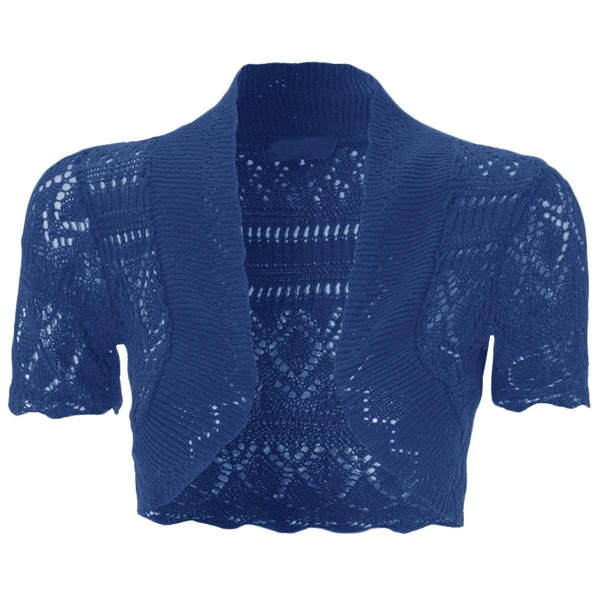7-13 Years New Kids Girls Bolero Knitted Cardigan Shrugs Top Age
