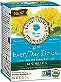 Traditional Medicinals Organic Everyday Detox Dandelion Tea, 16 Tea Bags (Pack of 6)