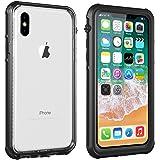 Vapesoon iPhone X Waterproof Case, Waterproof Shockproof Snowproof Clear Slim Armor Case for iPhone X(5.8inch )
