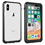 Amazon Price History for:Vapesoon iPhone X Waterproof Case, Wireless Charging Support Waterproof Shockproof Snowproof Clear Slim Armor Case for iPhone X