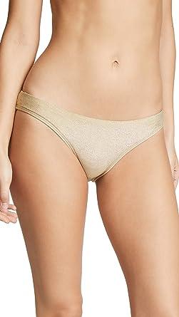 a9c24b2353aaf Amazon.com: OndadeMar Women's All Gold Bikini Bottoms: Clothing