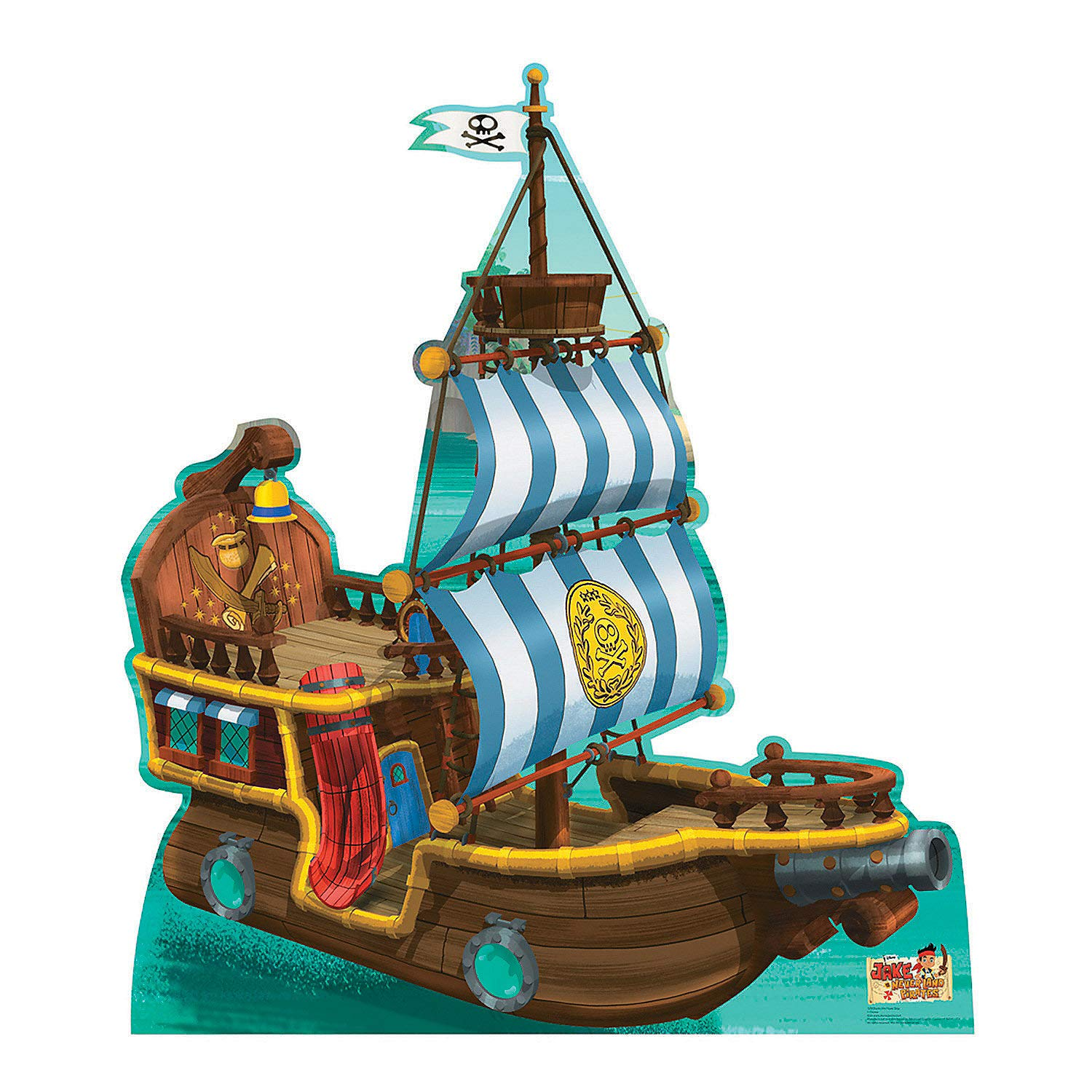 Fun Express - Bucky Pirate Ship Standup - Party Supplies - Licensed Tableware - Misc Licensed Tableware - 1 Piece