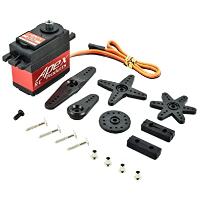 Apex RC Products 6600MG Metal Gear/Case Digital Standard Servo - 1/10-1/8 Steering Servo: Toys & Games