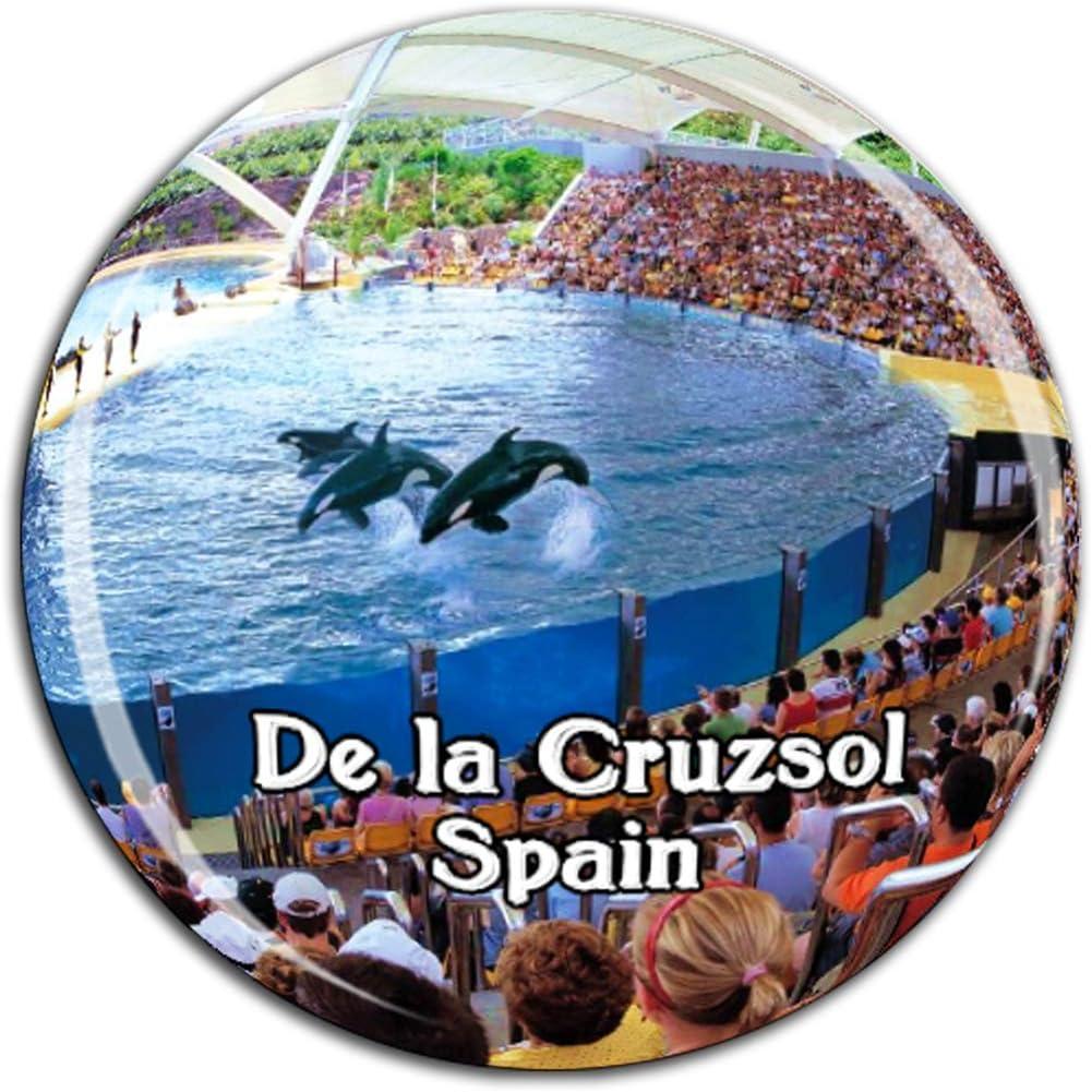 Parrot Park Puerto de la Cru Tenerife Spain Fridge Magnet 3D Crystal Glass Tourist City Travel Souvenir Collection Gift Strong Refrigerator Sticker