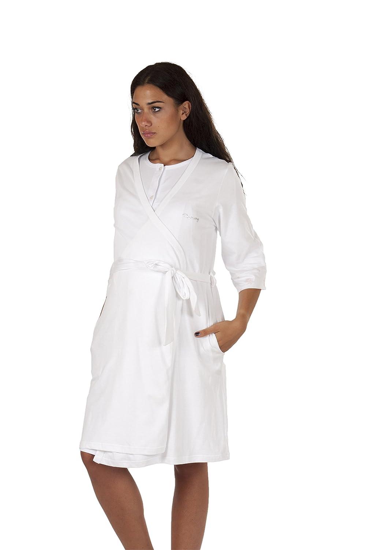 Premamy - Vestaglia Parto Clinica Maternità - Colore: Bianco
