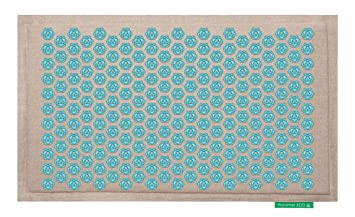 tapis de fleurs soulage les douleurs de dos turquoise - Tapis Fleur