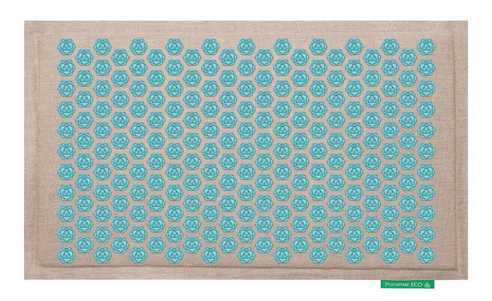 Pranamat ECO Therapeutic Manual Massage Mat (Natural Turquoise) by Pranamat ECO (Image #1)