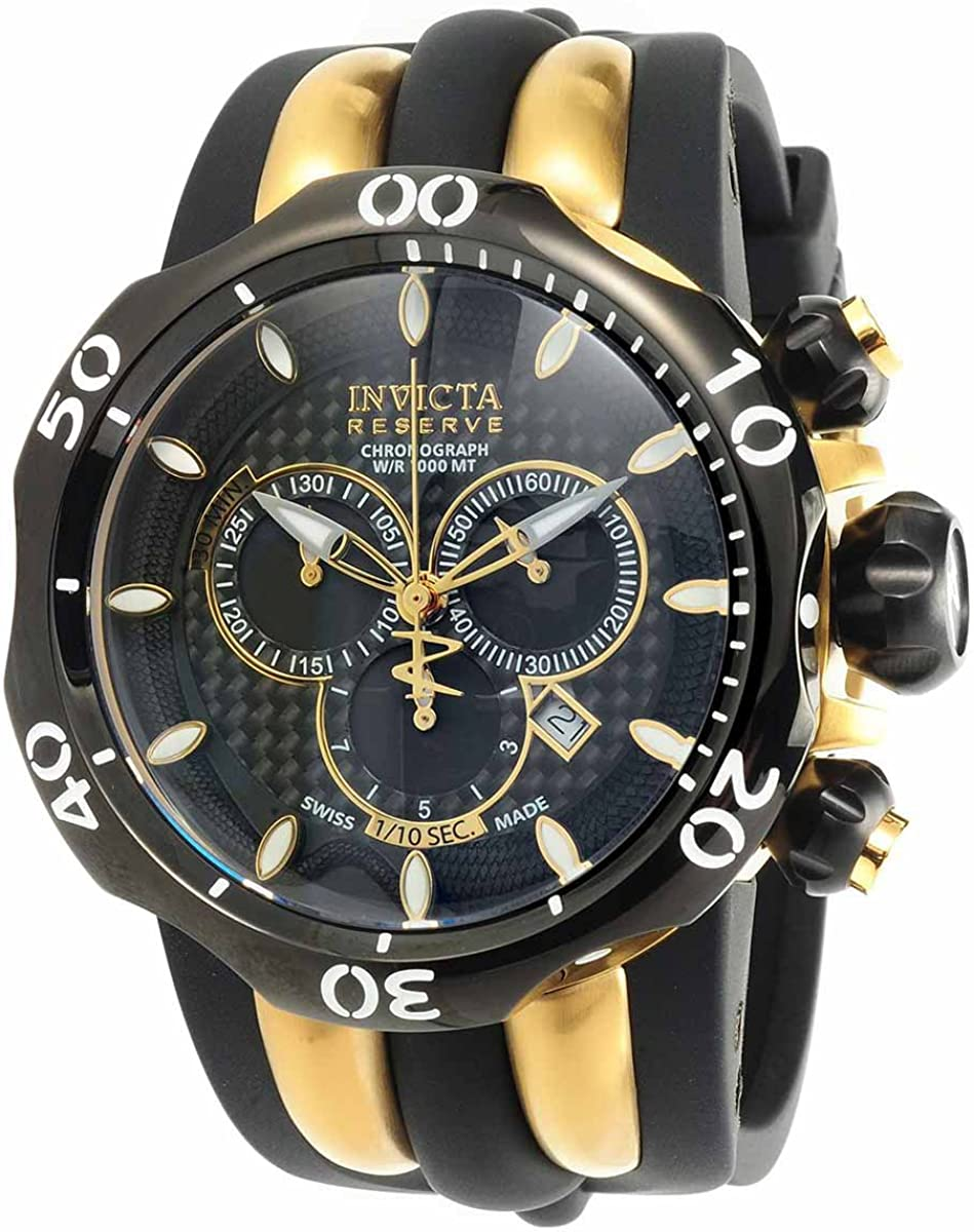 Harley-Davidson Mens Chronograph Brake Plate Watch, Black Stainless Steel 78B138