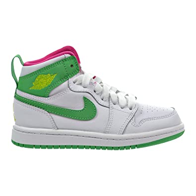 low priced 0006e 962ee Jordan 1 Retro High GP Little Kid's Shoes White/Gamma Green/Vivid Pink/