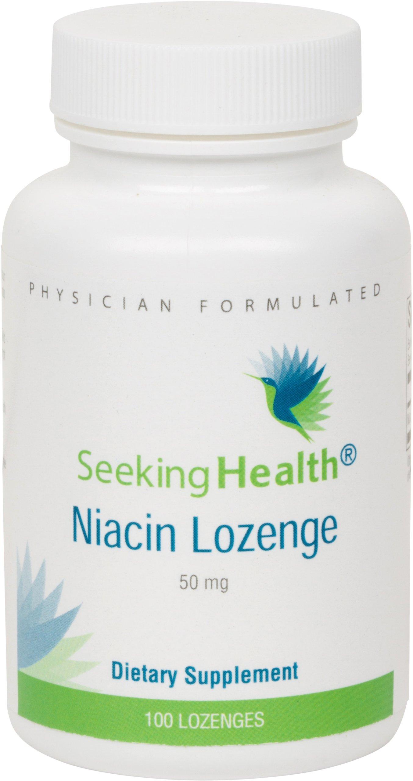 Niacin Lozenge   Provides 50 mg of Niacin as Nicotinic Acid   Vitamin B3   Free of Magnesium Stearate   Non-GMO   Natural Cherry Flavor   100 Lozenges   Seeking Health