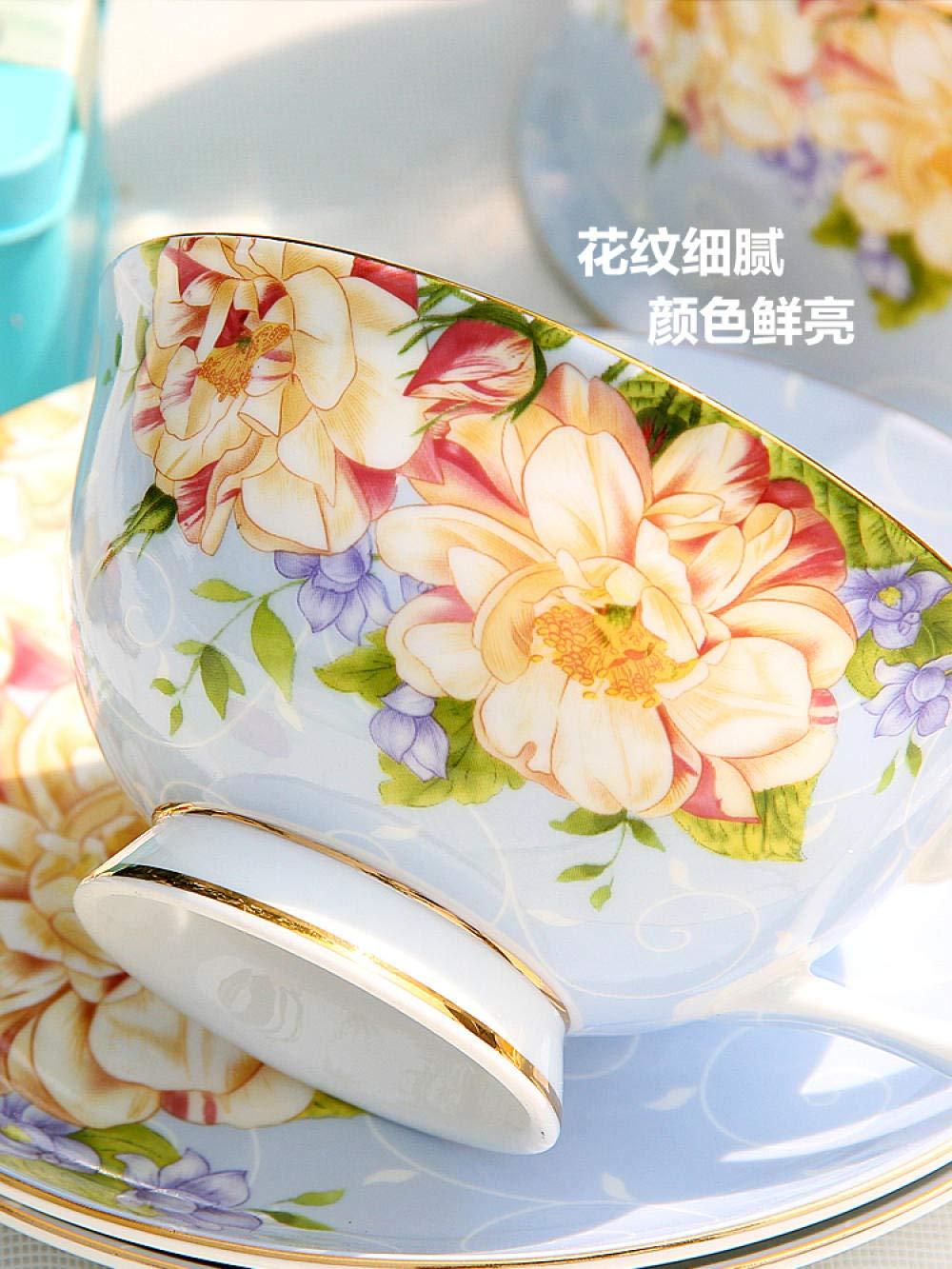 Cup Pretty Tazza di caff/è Riutilizzabile Espresso Set da t/è in Ceramica Tazza e piattino Set da 3 Pezzi Tazza da t/è Tazze da caff/è per la casa