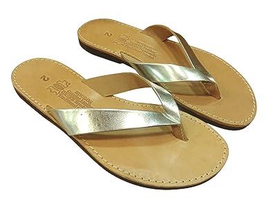 1450c1028a45 Ancient Greek Style Genuine Leather Flip Flops Thong Sandals Roman Handmade Womens  Shoes Gladiator Spartan Hypatia